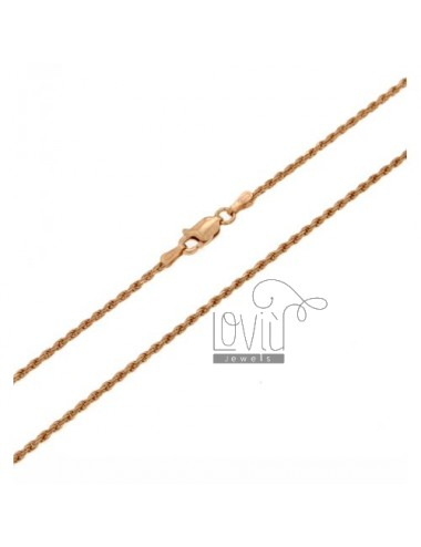 FUNETTA CHAIN 1.6 MM ROSE GOLD PLATED CM 45 IN AG TIT 925 ‰
