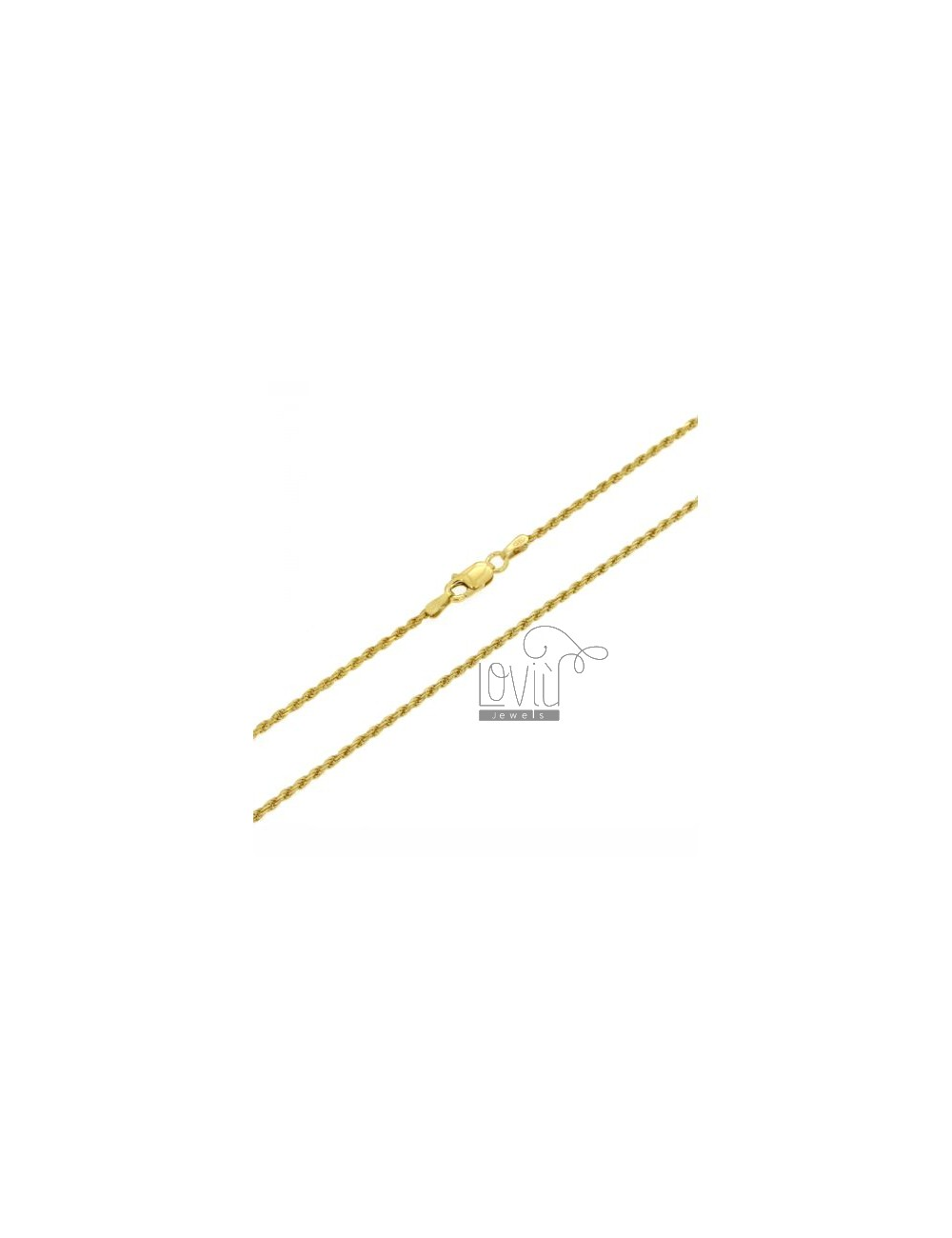 FUNETTA CHAIN 1.6 MM GOLD PLATED 45 CM IN AG TIT 925 ‰
