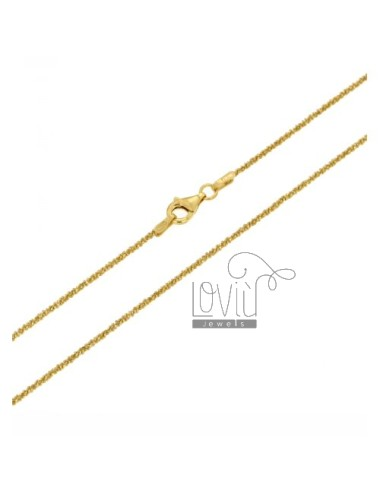 DISC CHAIN &8203&82031.4 MM GOLD PLATED 60 CM IN TIT AG 925