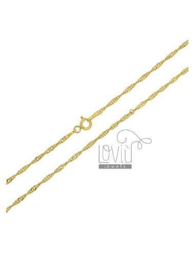 SINGAPORE CHAIN &8203&8203GOLD PLATED 40 CM IN TIT AG 925