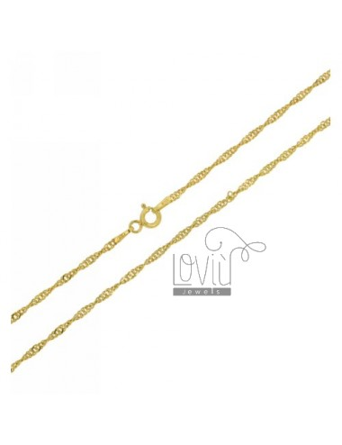 SINGAPORE CHAIN &8203&8203GOLD PLATED 45 CM IN TIT AG 925
