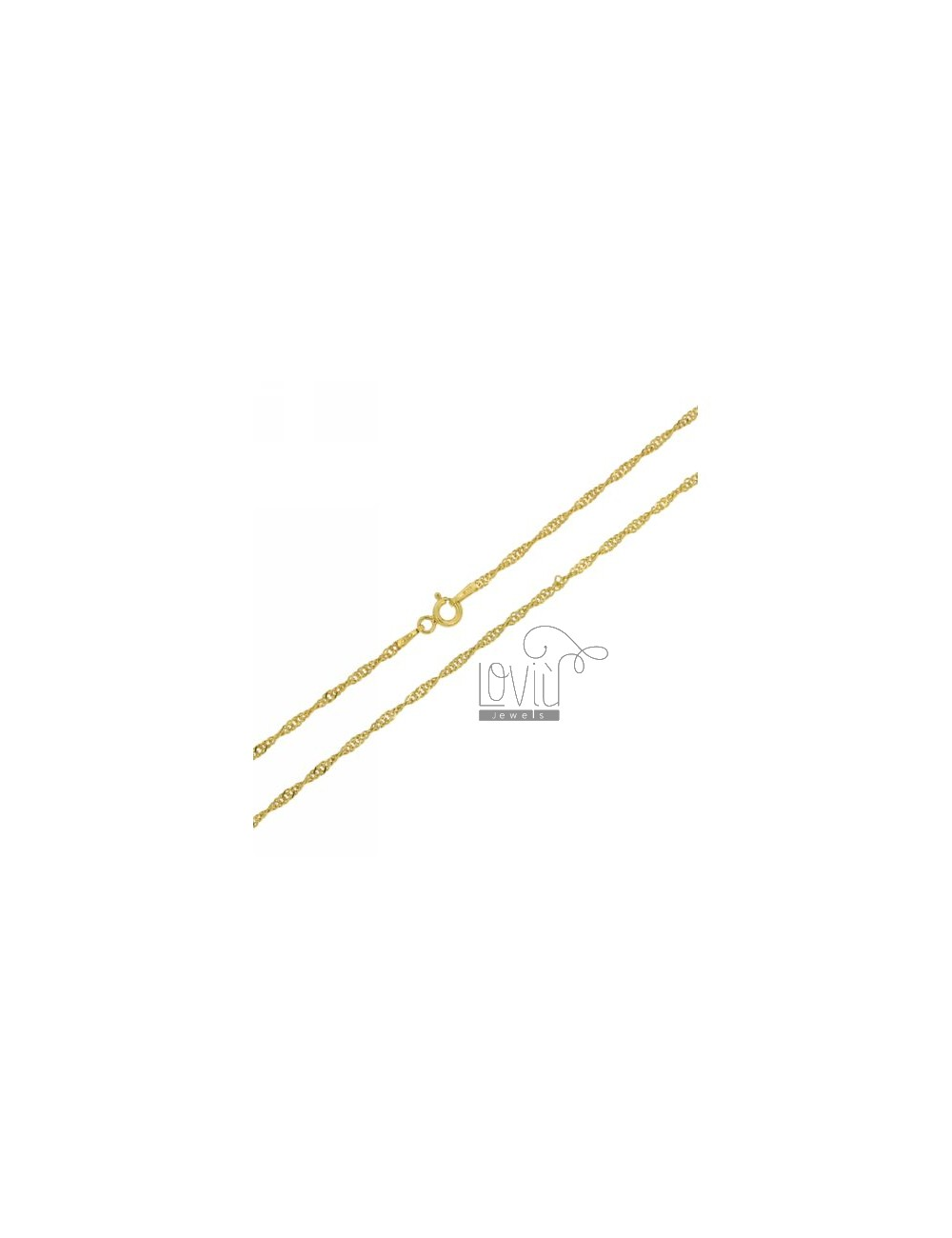 SINGAPORE CHAIN &8203&8203GOLD PLATED 60 CM IN TIT AG 925