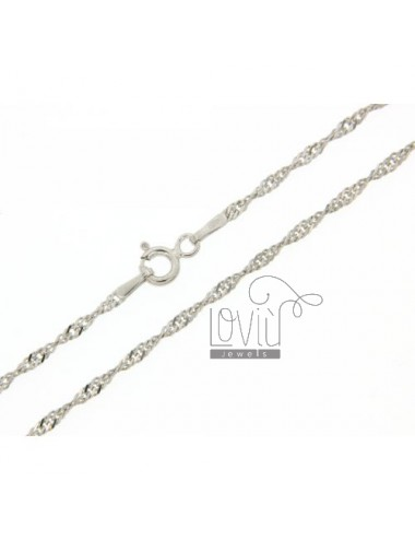 SINGAPORE CHAIN &8203&820360 CM SILVER RHODIUM 925