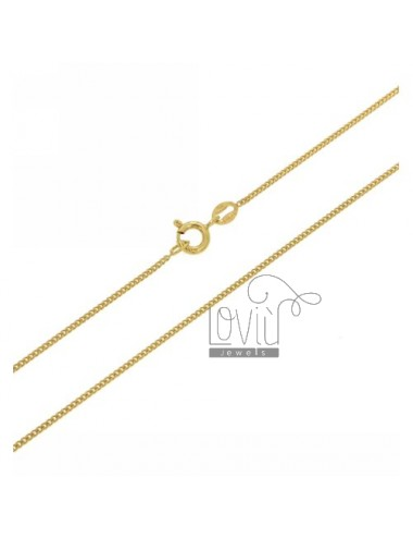 GRUMETTINA CHAIN 1.2 MM GOLD PLATED 60 CM IN AG TIT 925 ‰