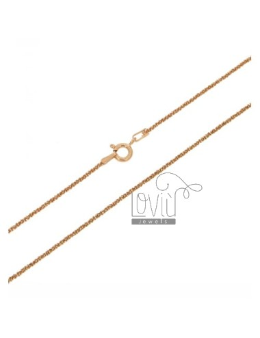 DISC CHAIN &8203&82031.4 MM 60 CM GOLD PLATED ROSE IN TIT AG.925