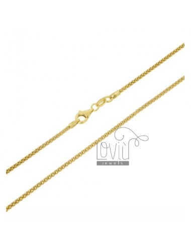 CATENA POP CORN MM 1,8 PLACCATA ORO CM 45 IN AG TIT 925‰