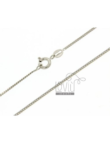 GRUMETTINA CHAIN 1.2 MM 70 CM IN SILVER RHODIUM 925 ‰