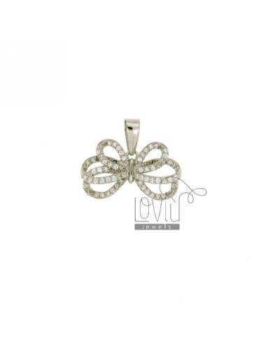 BOW PENDANT 11x19 MM IN AG TIT 925 ‰ AND ZIRCONIA