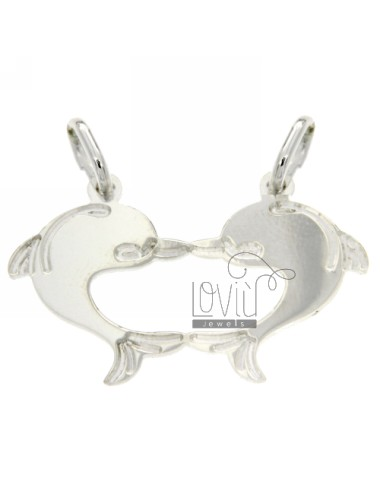 PENDANT FORM DOLPHINS DIVIDED IN SILVER 925 ‰