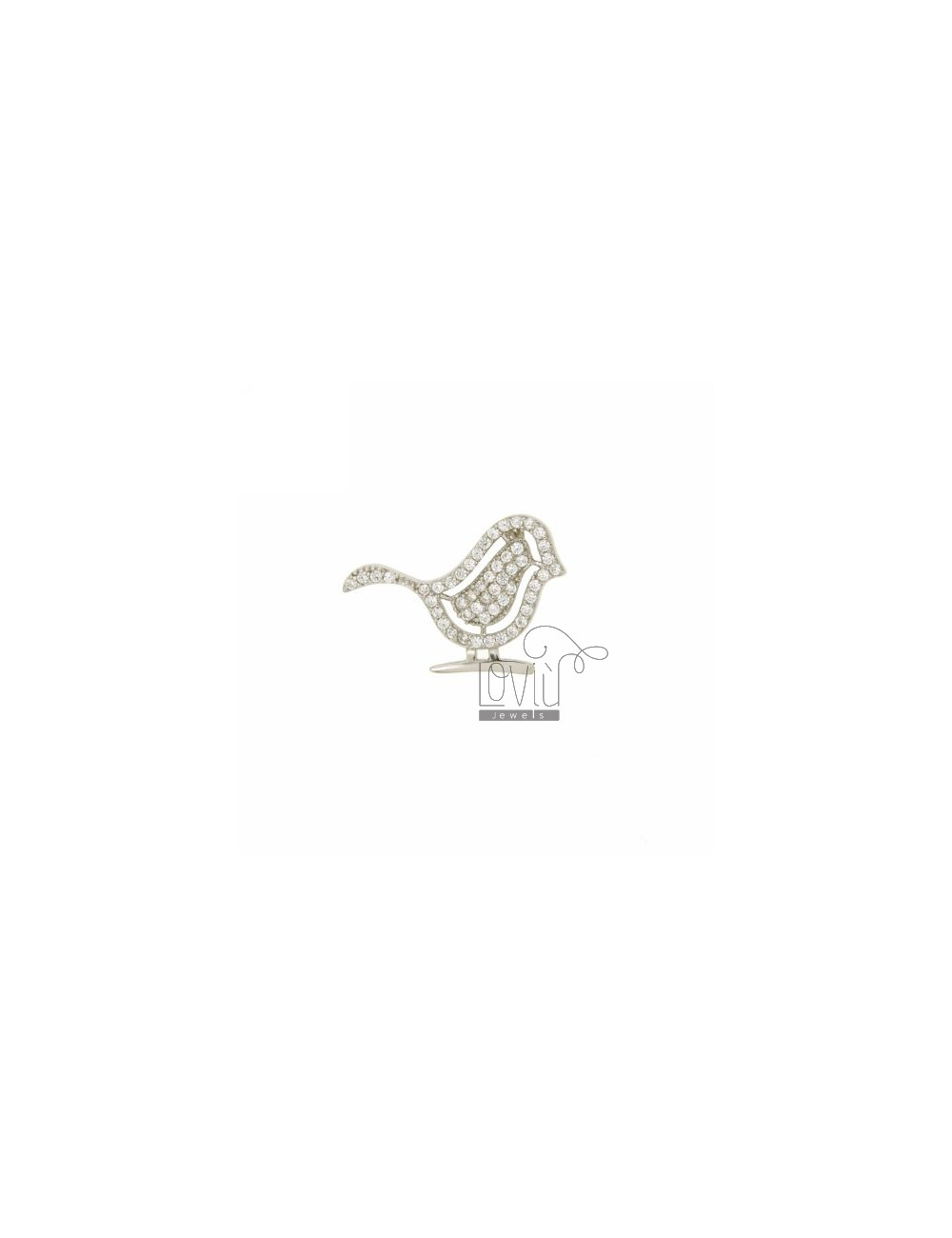 PENDANT CHICK IN AG TIT MM 17X24 n ° 925 ‰ AND ZIRCONIA