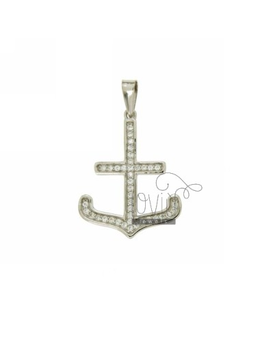Pendant 25x20 MM STILL IN AG TIT 925 ‰ AND ZIRCONIA