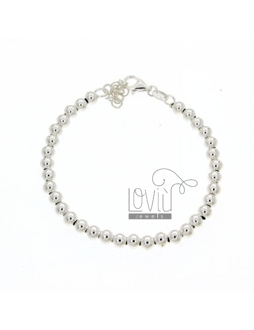 BRACELET BALL 6 MM WITH CLOSURE IN AG TIT 925 ‰