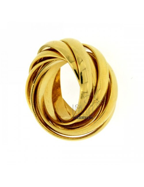 9 BAND WIRE SILVER PLATED YELLOW GOLD SIZE 14 925