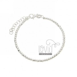 BALL BRACELET 3 MM SILVER 925 ‰ WITH CLOSURE