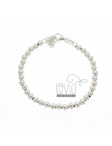BRACELET SPHERES OF 5 MM SILVER 925 ‰ WITH CLOSURE