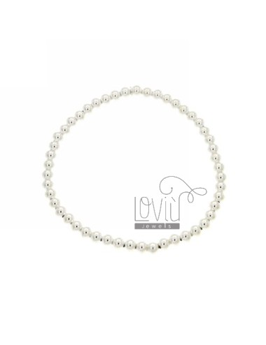 BRACELET WITH SPRING BALL 4 MM SILVER 925 ‰