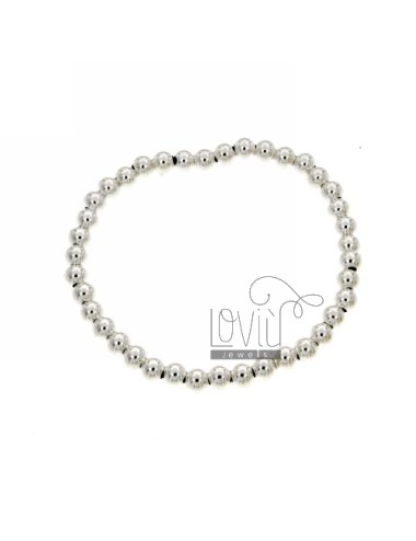 BRACELET WITH BALL SILVER SPRING FROM 5 MM 925 ‰