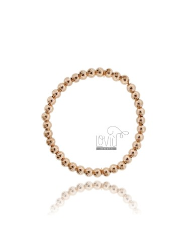 BRACELET WITH BALL SPRING FROM 5 MM SILVER ROSE GOLD PLATED 925 ‰