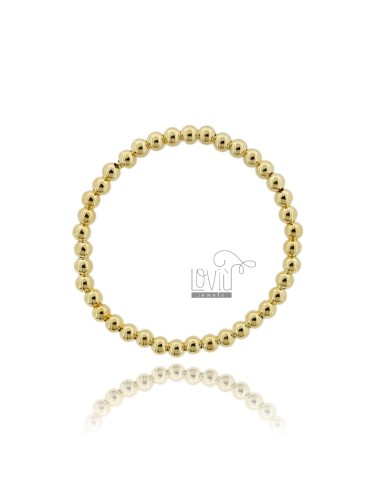 BRACELET WITH BALL SPRING FROM 5 MM SILVER GOLD PLATED 925 ‰