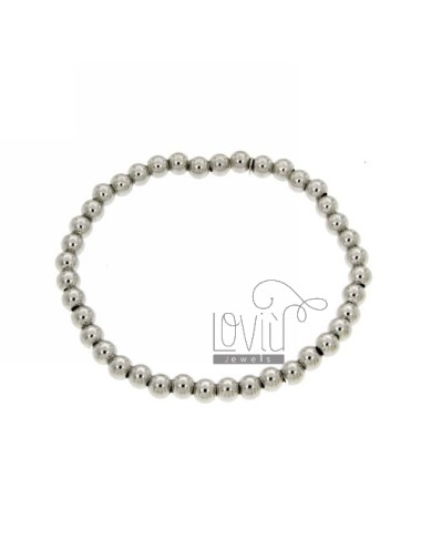 BRACELET WITH BALL SPRING FROM 5 MM SILVER RHODIUM 925 ‰