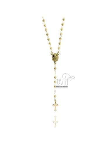 Collana rosario con pallina...
