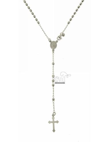 Collar rosario con bola de...