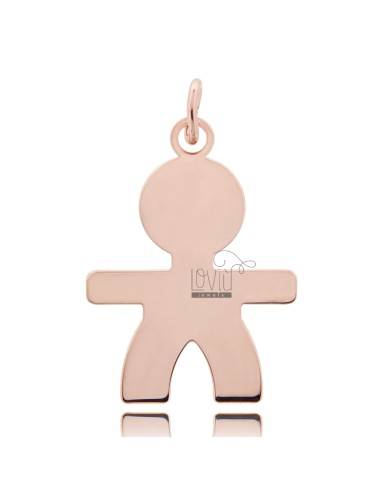 A BOY PENDANT SLAB MIS 4,0 X2, 8 SILVER PLATED ROSE GOLD 925 ‰