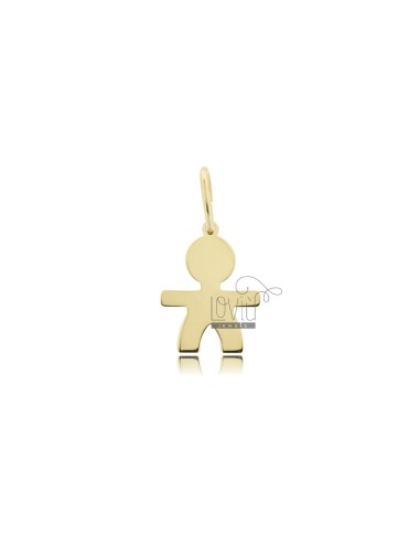 A BOY PENDANT SLAB MIS 1,70 X1, 20 SILVER GOLD PLATED 925 ‰