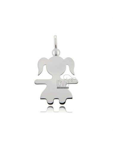 CHARM GIRL A SHEET MIS 2,6X2,0 SILVER RHODIUM 925 ‰