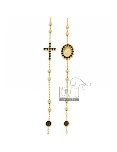 Collana rosario a giro con...