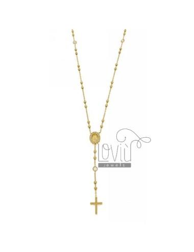 Collana rosario con croce,...