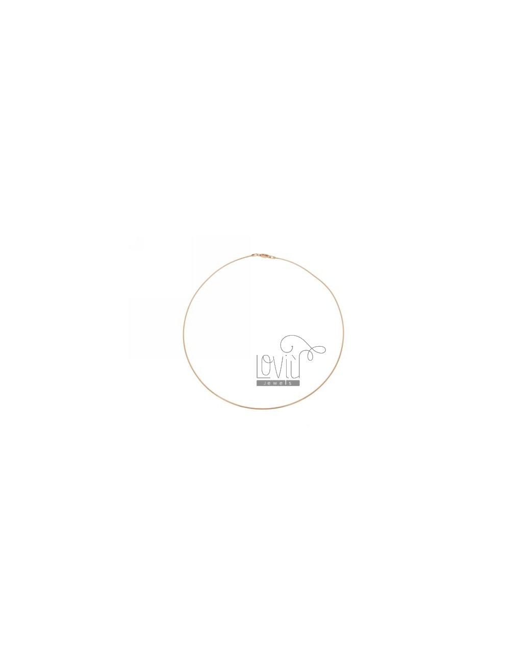 ROSE GOLD PLATED RIGID NECKLACE MM 1 IN SILVER TIT 925