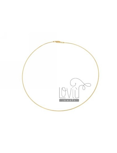 RIGID NECKLACE SILVER GOLD PLATED MM 1 TIT 925