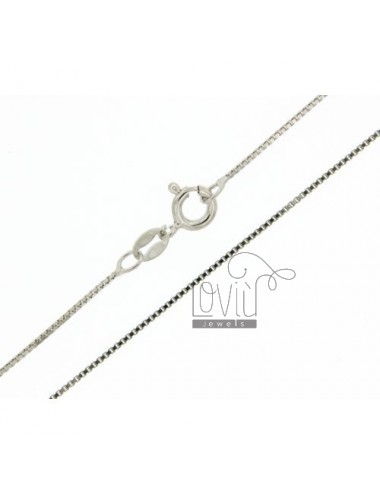 VENETIAN CHAIN &8203&82030.8 MM 90 CM IN RHODIUM TIT AG.925