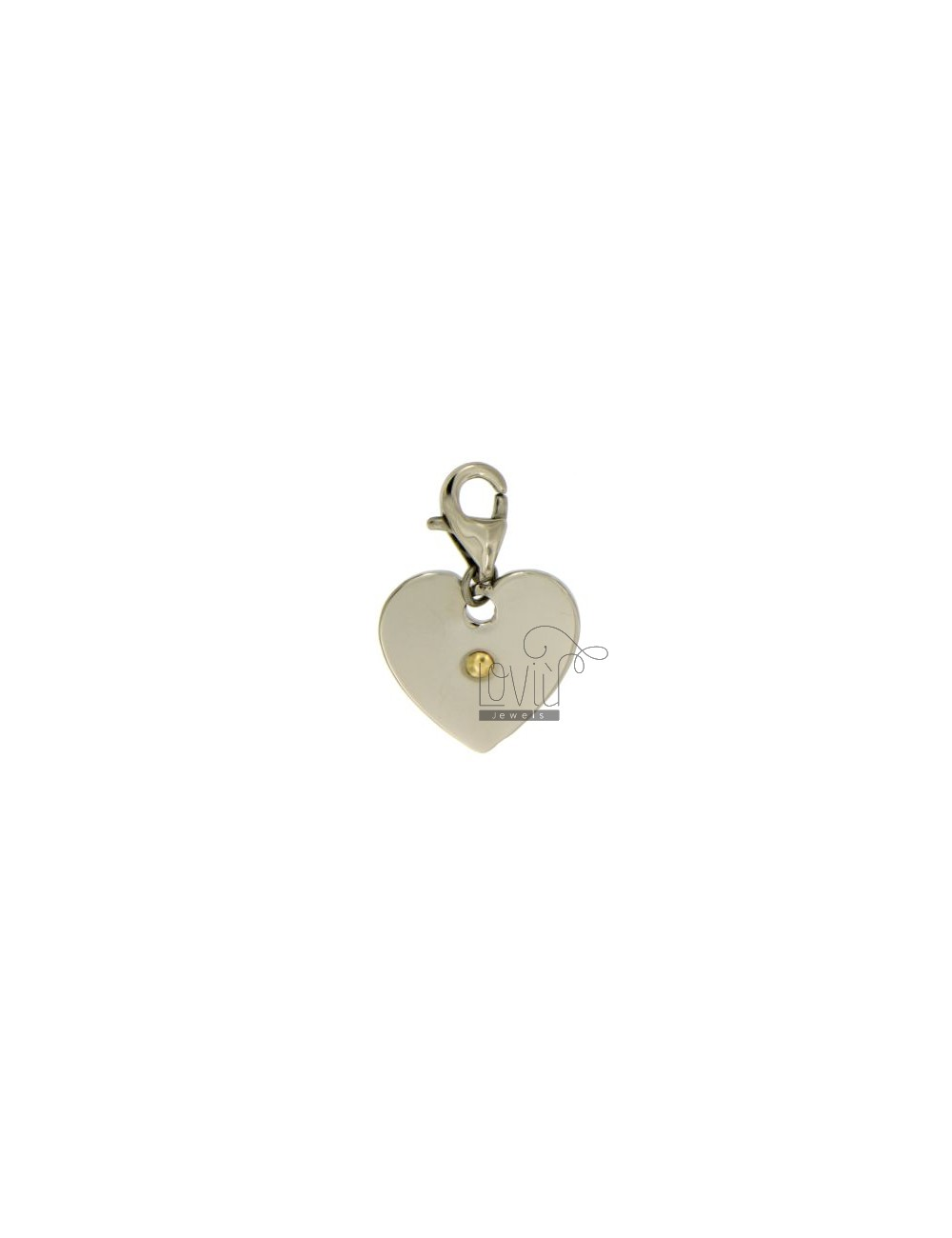 PENDANT HEART 18X18 MM STEEL AND Bilamina BRASS AND GOLD TIT 75%