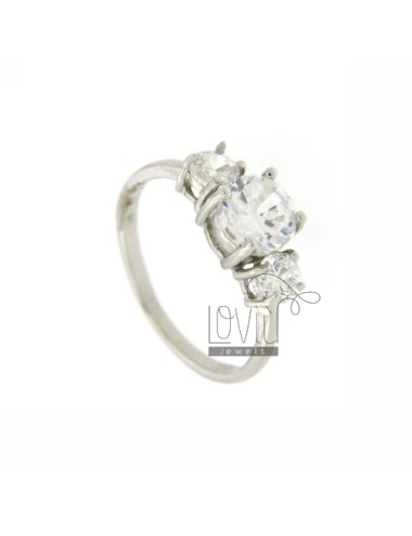 TRILOGY RING 925 SILVER...