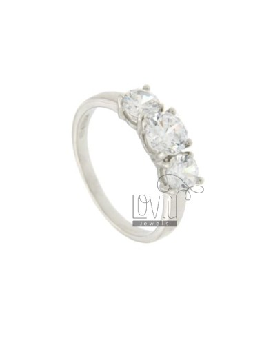 TRYLOGY TIT SILVER RING 925 AND ZIRCONIA