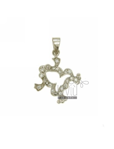PENDANT FROG 19X17 MM IN AG...