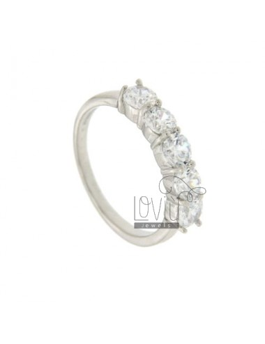 HALF RING IN SILVER 4.5 MM Eternity 925 TIT AND ZIRCONIA SIZE 10
