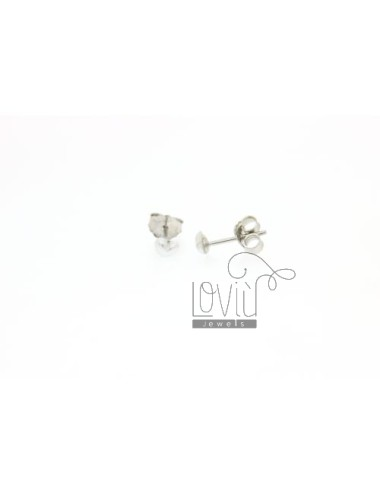 CUORICINO MM PEARL EARRINGS IN 4 AG TIT 925