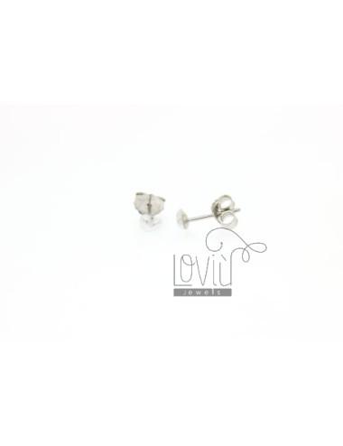 CUORICINO MM PEARL EARRINGS IN 4 AG TIT 925