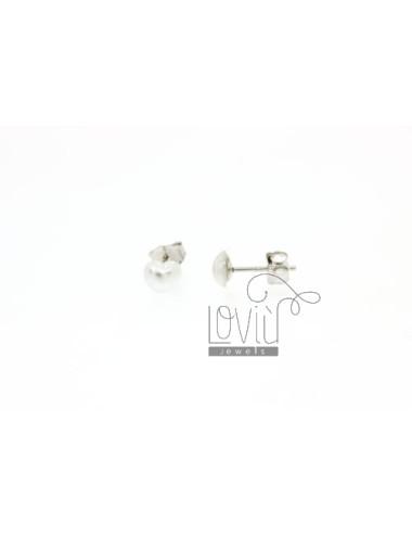 CUORICINO PEARL EARRINGS 6 MM IN TIT AG 925