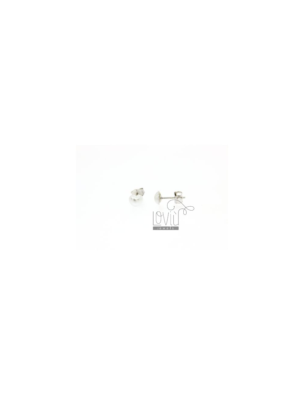CUORICINO PEARL EARRINGS 6 MM IN TIT AG 925