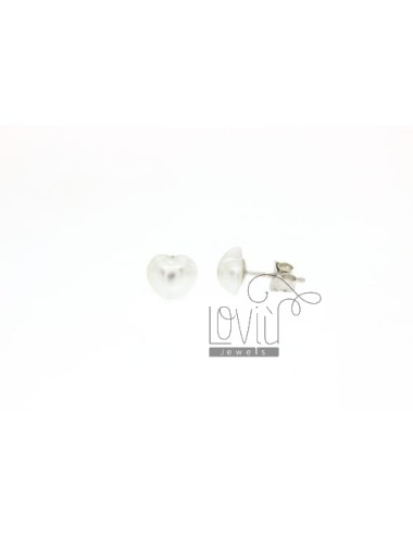 CUORICINO 8 MM PEARL EARRINGS IN TIT AG 925
