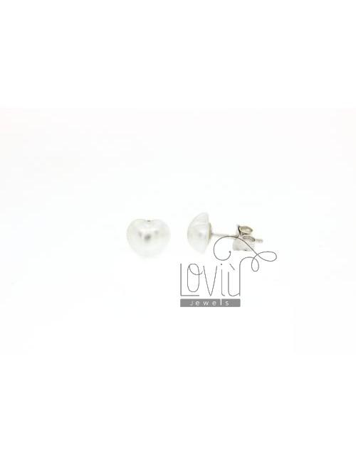 CUORICINO 8 MM PEARL EARRINGS IN TIT AG 925