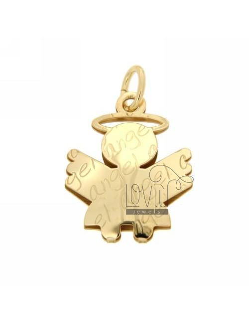 CIONDOLO ANGIOLETTO ANGEL MM 30X24 IN AG PLACCATO ORO TIT 925