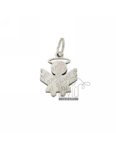ANGEL ANGEL PENDANT 20X15 MM IN AG RHODIUM PLATED AG TIT 925 ‰