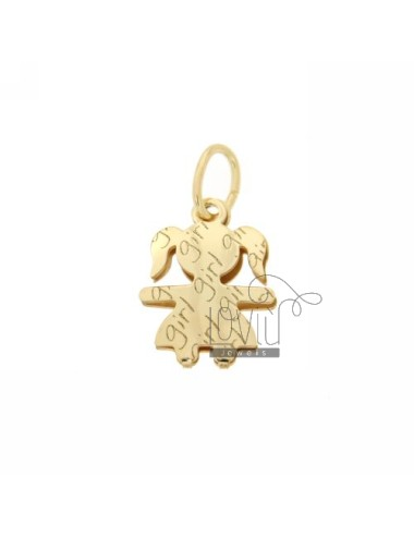 PENDANT GIRL GIRL IN GOLD PLATED IN AG AG TIT 925 ‰