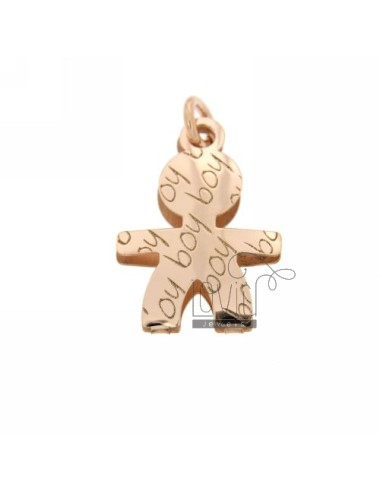 PENDANT BABY GIRL IN YELLOW ROSE GOLD PLATED AG TIT 925
