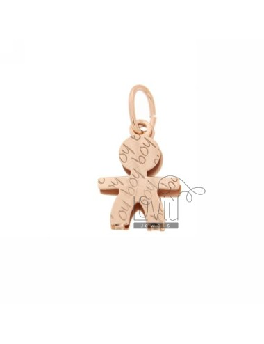 PENDANT BABY BOY IN ROSE GOLD PLATED AG TIT 925 ‰